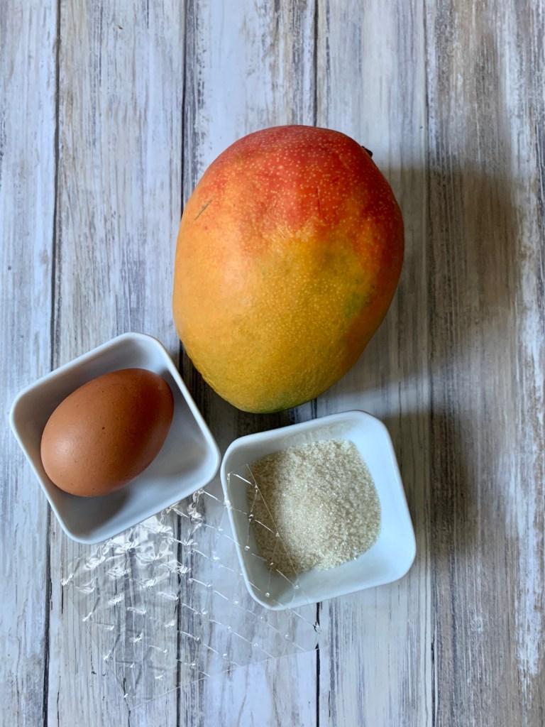 Ingredientes Mousse de Mango