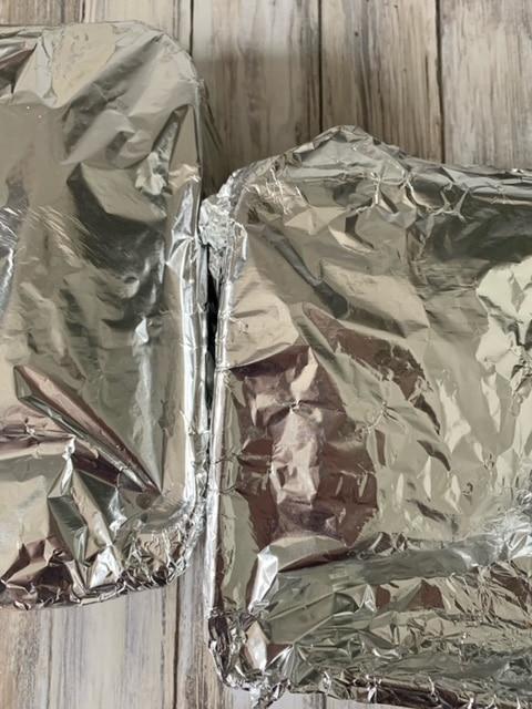 Papel aluminio salido horno