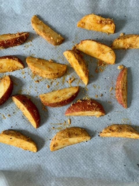 Antes del horno patatas
