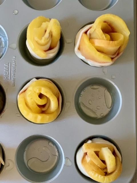 Hojaldre y manzana