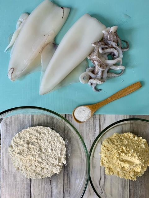 Ingredientes Calamares fritos a la Andaluza
