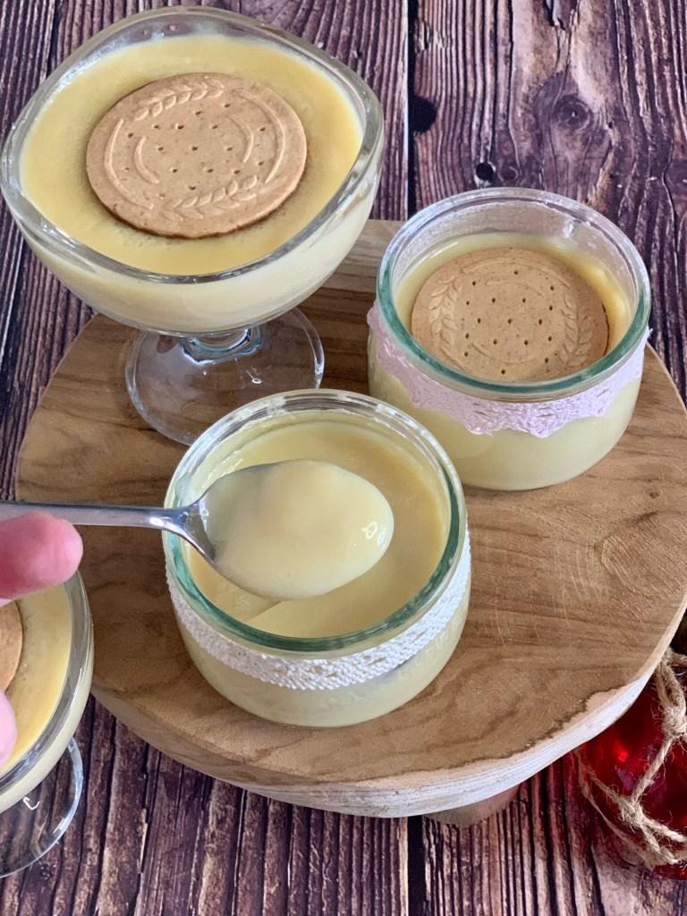 Natillas con leche de avena