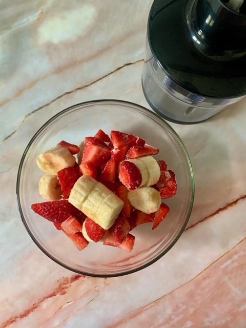 Fruta congelada para prepara nuestro Helado de Fresas