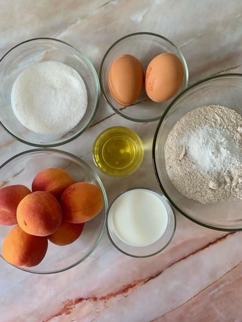Ingredientes Bizcocho de albaricoque