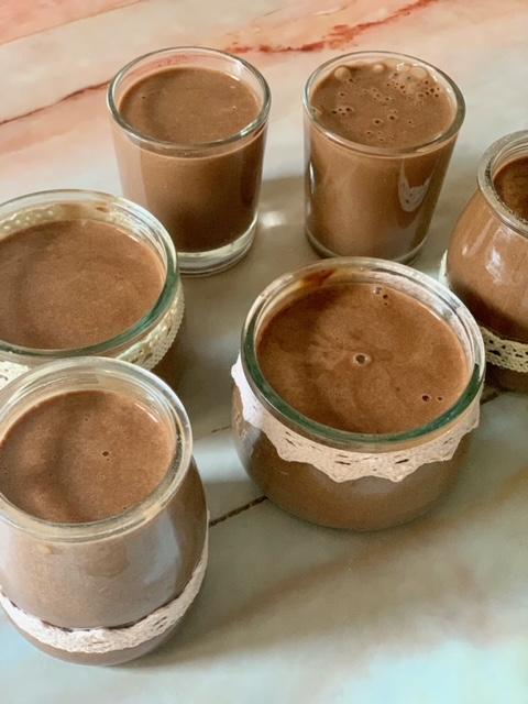 Natillas de Chocolate recién hechas