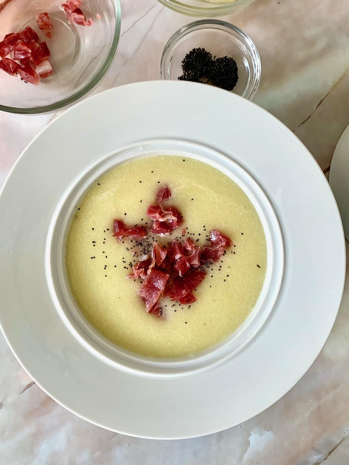 Sopa de Melón y jamón