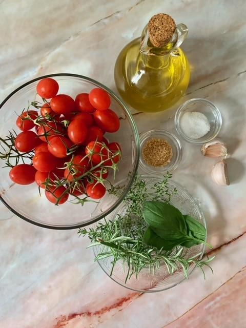 Ingredientes Tomates Cherry Confitados