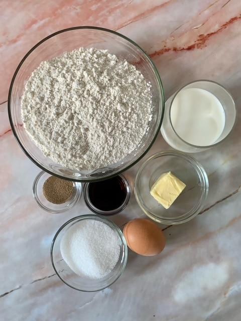 Ingredientes Panecillos de leche