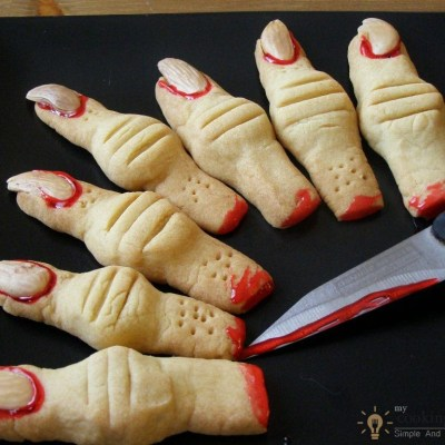Creepy Monster's Finger Cookies