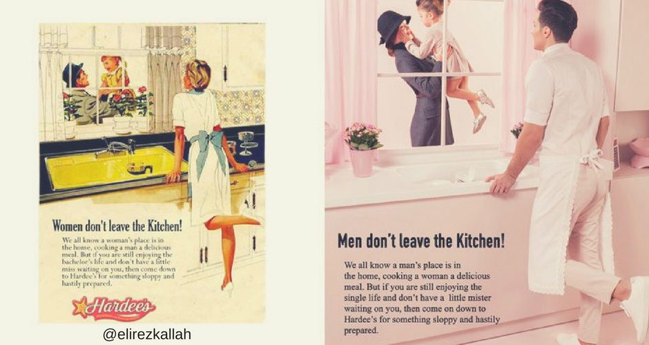 roles de género de anuncios sexistas