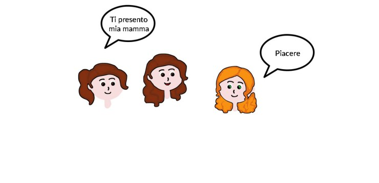 introduce someone else in Italian