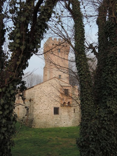 Castle of San Martino and trees