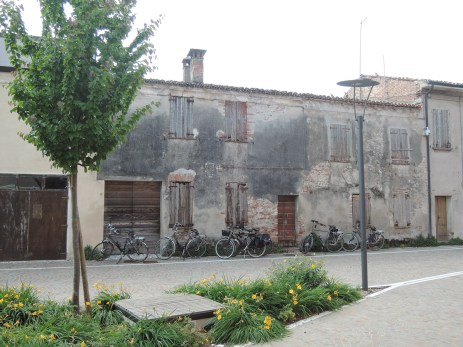 Bikes parked in Soave