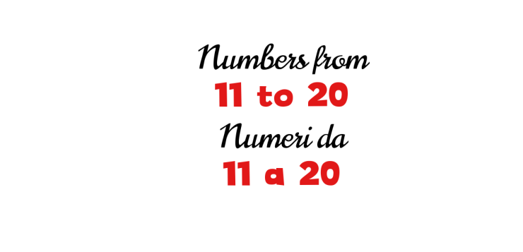 Italian numbers from 11 to 20
