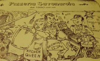Placemat, Pizzeria Savonarola
