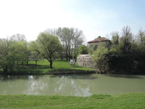 Venier turret mast, Lungoargine Piovego, Padova (near Porta Portello)
