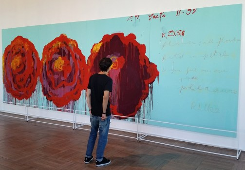 Roses by Cy Twombly and Filippo (the work is not there anymore)