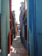 Coloured street, Burano