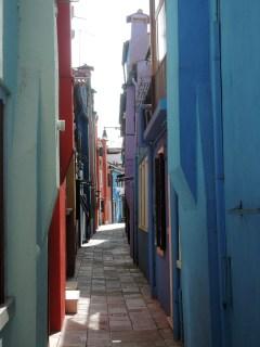 Coloured street, Burano