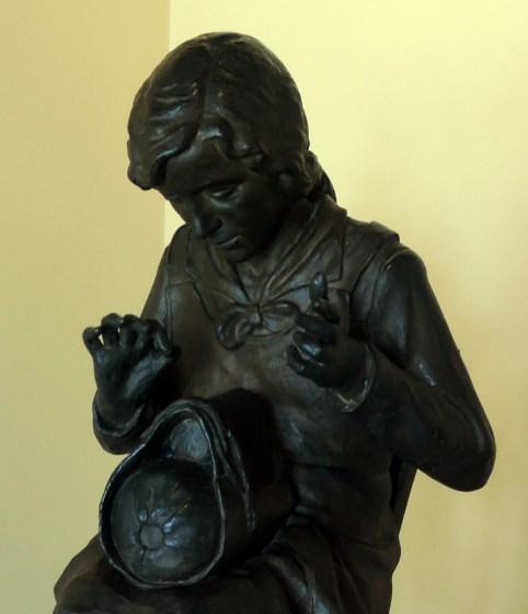 Lace-maker statue, Lockers, Burano Lace Museum
