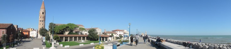 Cathedral and beach promenade