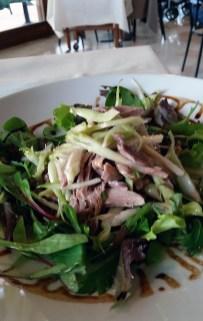 Duck salad, La Tavolozza, Torreglia