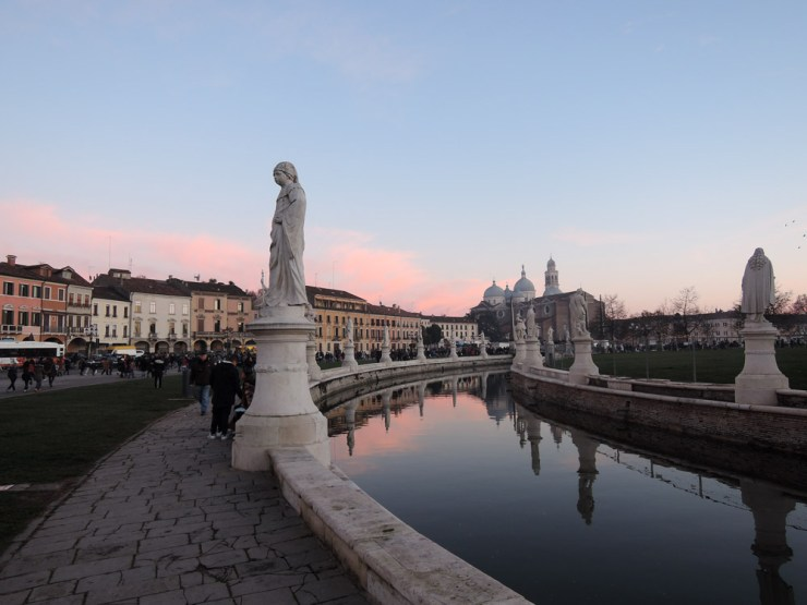 Walking towards the Befana bonfire, Prato della Valle, Padova