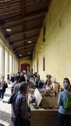 Under the barchessa, Villa Angarano