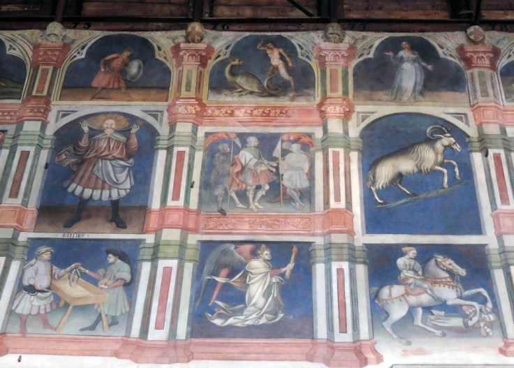 Aries and other frescoes