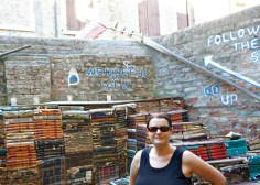 The Books staircase and me
