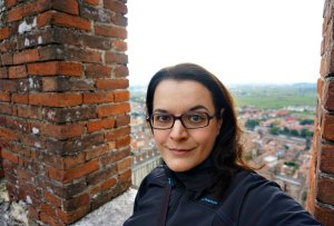 Selfie on top of the Castle