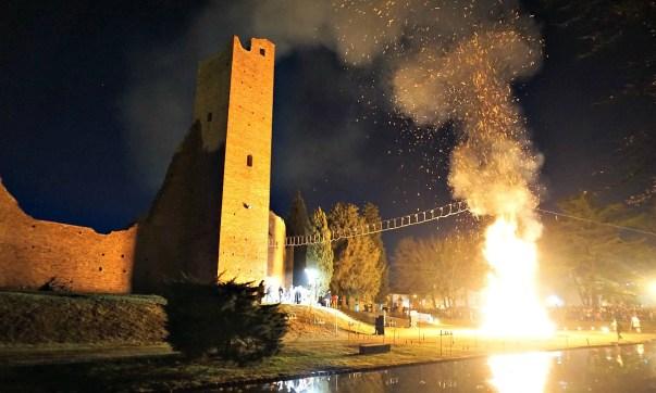Befana bonfire in Noale