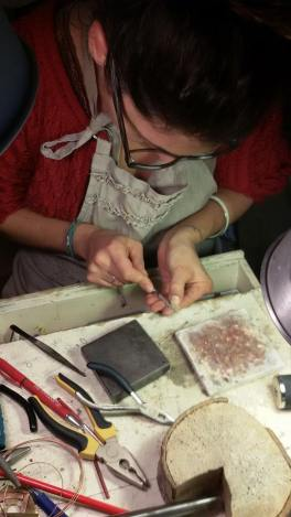 Silvia working