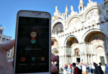 In San Marco with the Venice walking tour app, Ecco Venezia!