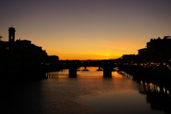 Sunset from Ponte Vecchio