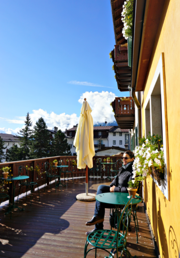 Enjoying the sun in the Hotel Ambra terrace