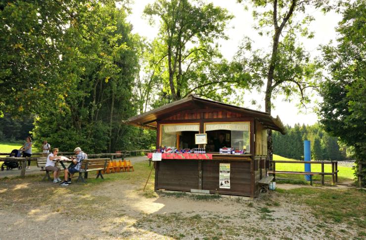 Kiosk selling berries