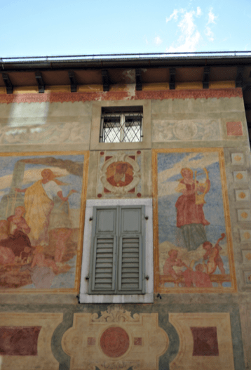 one of the facades of Cortina d'Ampezzo
