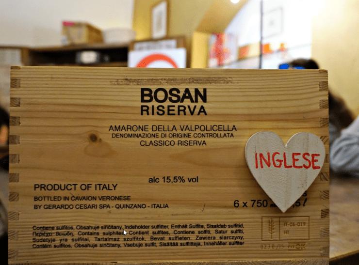 English letters wine box