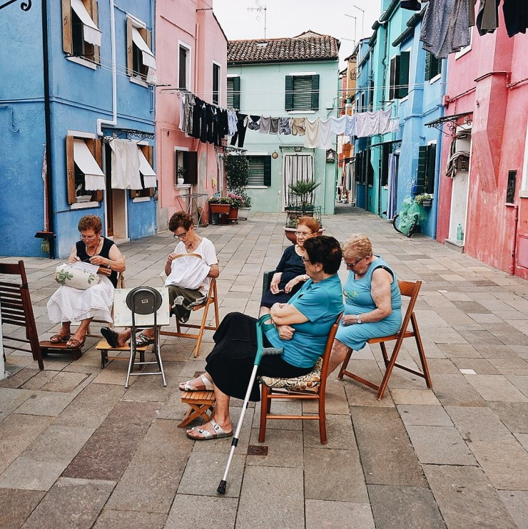 Ladies chatting in Burano
