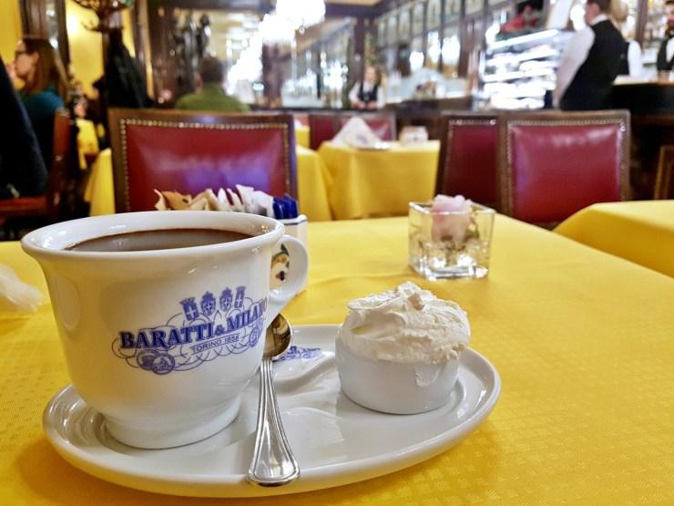 Chocolate at Caffé Baratti & Milano Turin