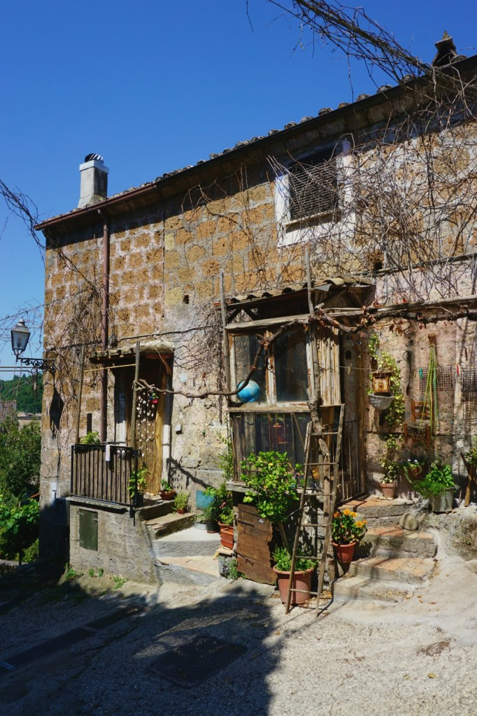 Shabby house in Calcata Italy