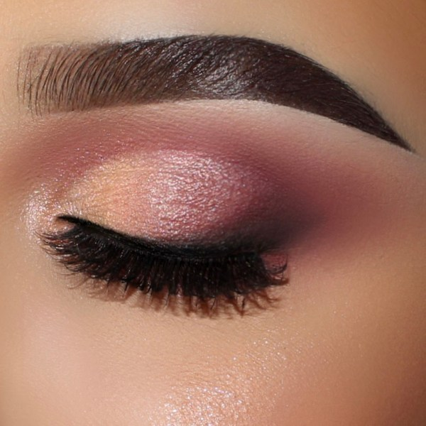 On The Go Rosy Eye Palette look