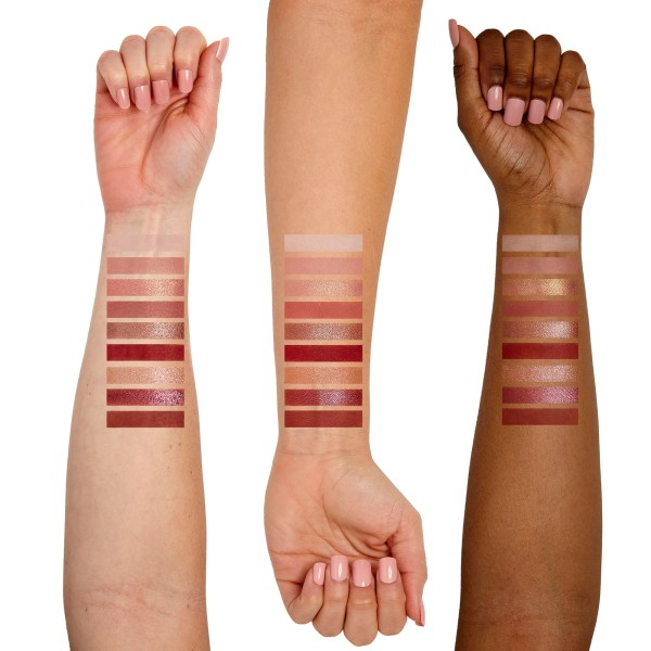 Sigma Beauty Rosy Palette Arm Swatches