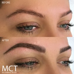 Eyebrow Feather Touch Tattoo Before & After