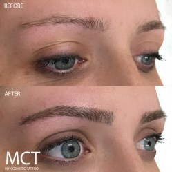 Eyebrow Feather Touch 3D Tattoo Before & After