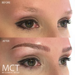 Feathering Brow 3D Tattoo