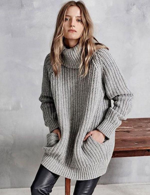 Oversized knit sweaters inspiration