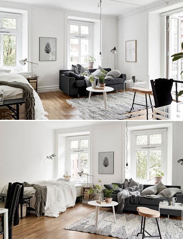 Adorable one room Swedish apartment | My Cosy Retreat