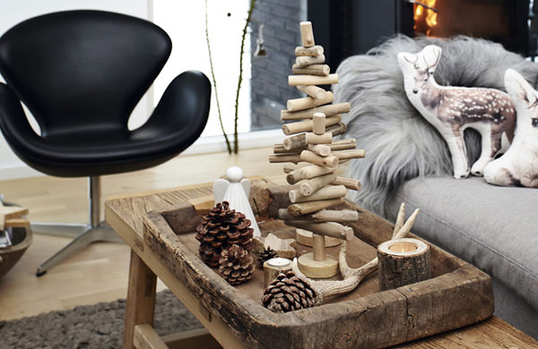 Rustic Christmas decoration in a lovely Danish home | My Cosy Retreat